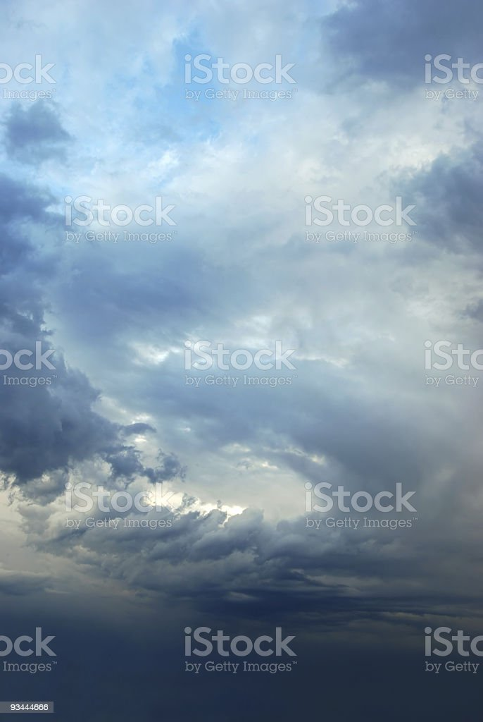 Sky after a storm stock photo