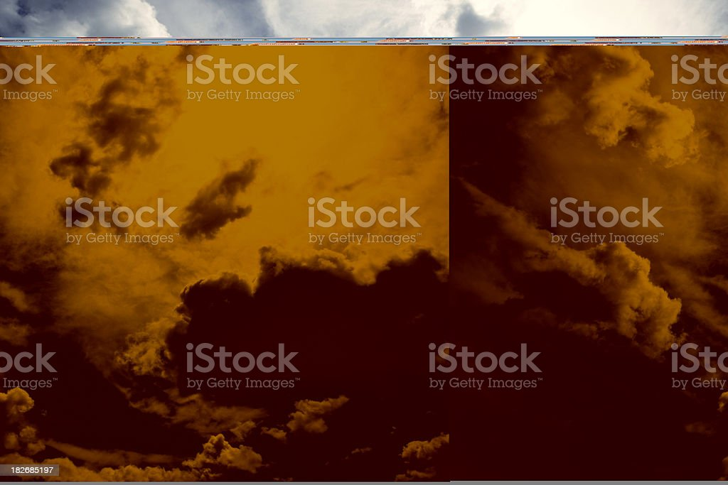 Sky after a thunder-storm royalty-free stock photo