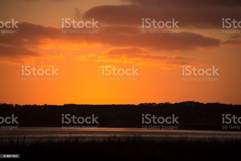 Sky after sunset stock photo