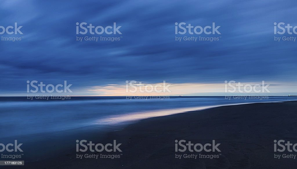 Sky after the sunset royalty-free stock photo