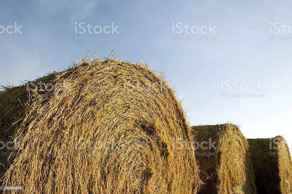 Sky and Bales stock photo