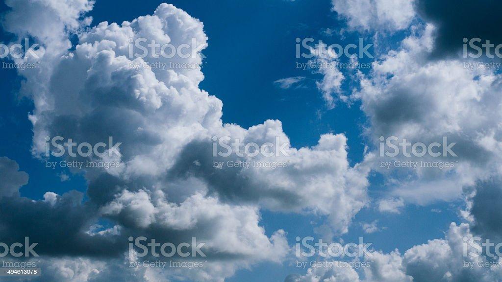 Cielo y las nubes bellas foto de stock libre de derechos