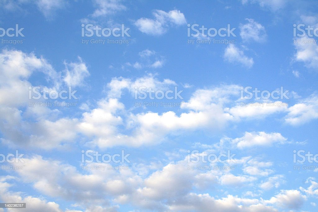 Sky and clouds stock photo