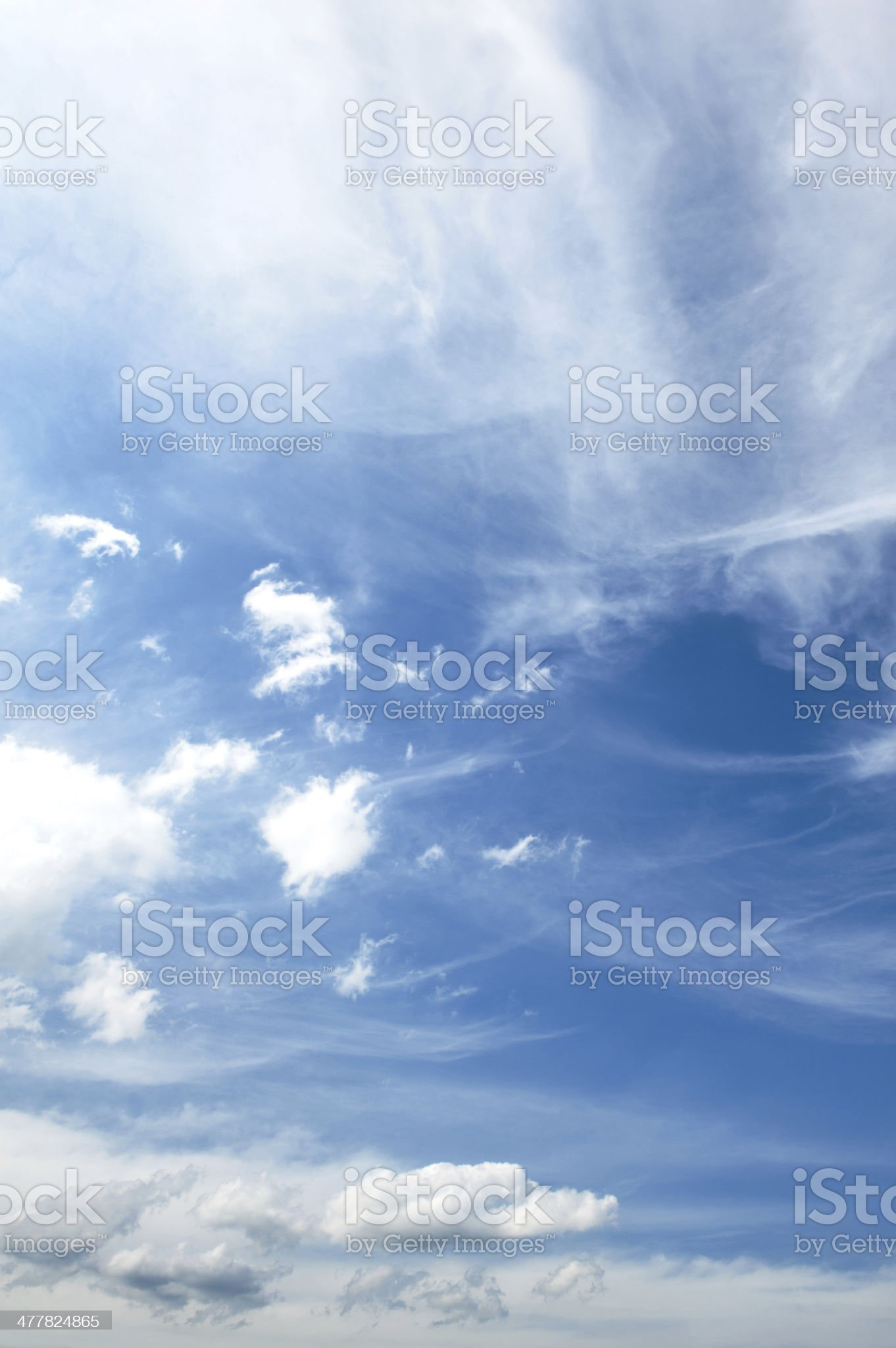 Sky and clouds royalty-free stock photo