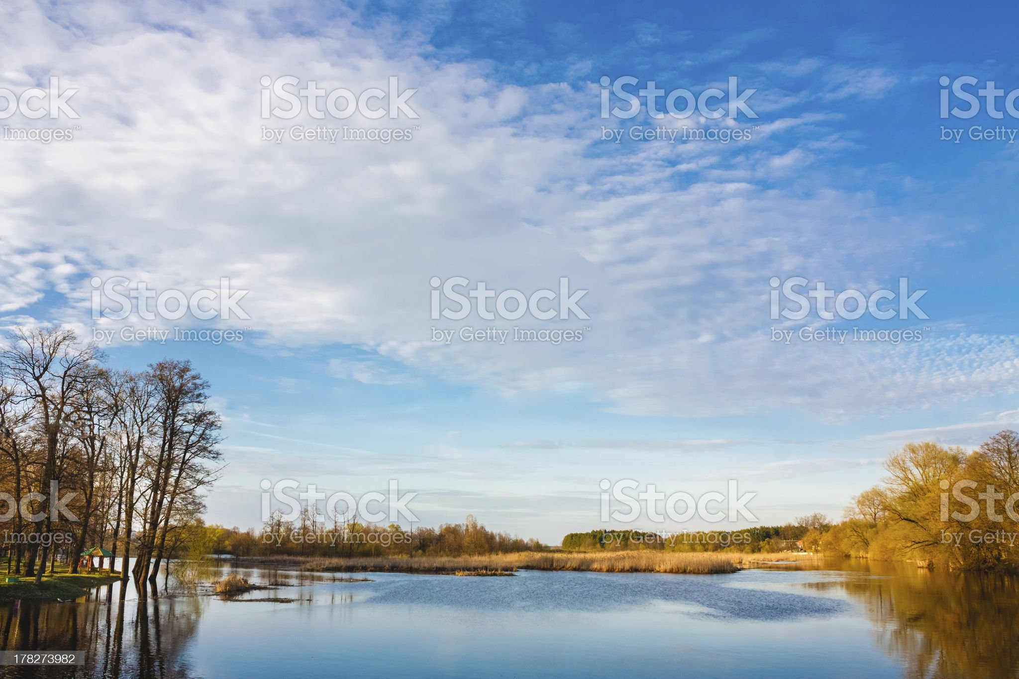 Sky And Clouds Reflection On Lake royalty-free stock photo