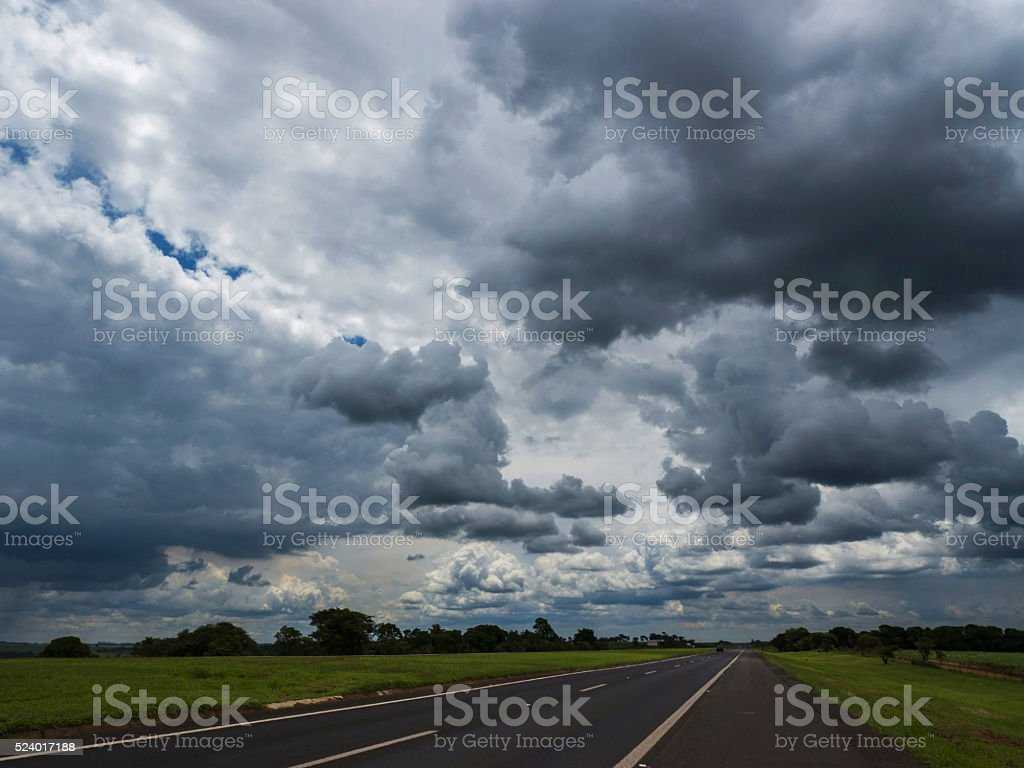 Sky and dark clouds stock photo