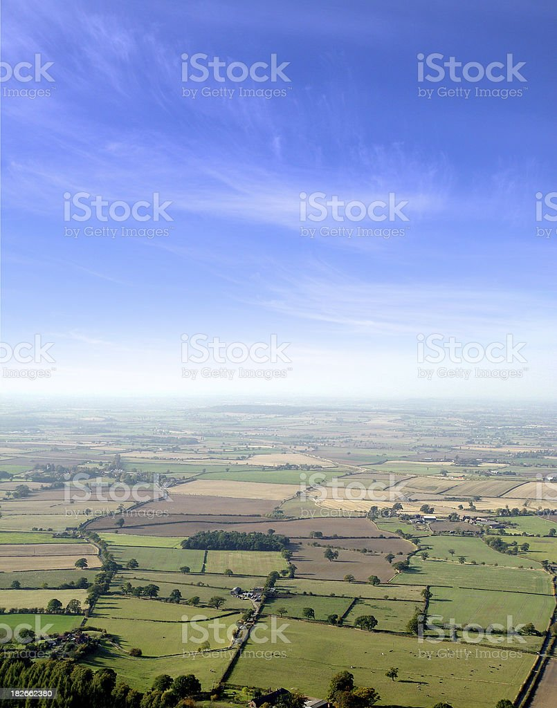 sky and fields 2 stock photo
