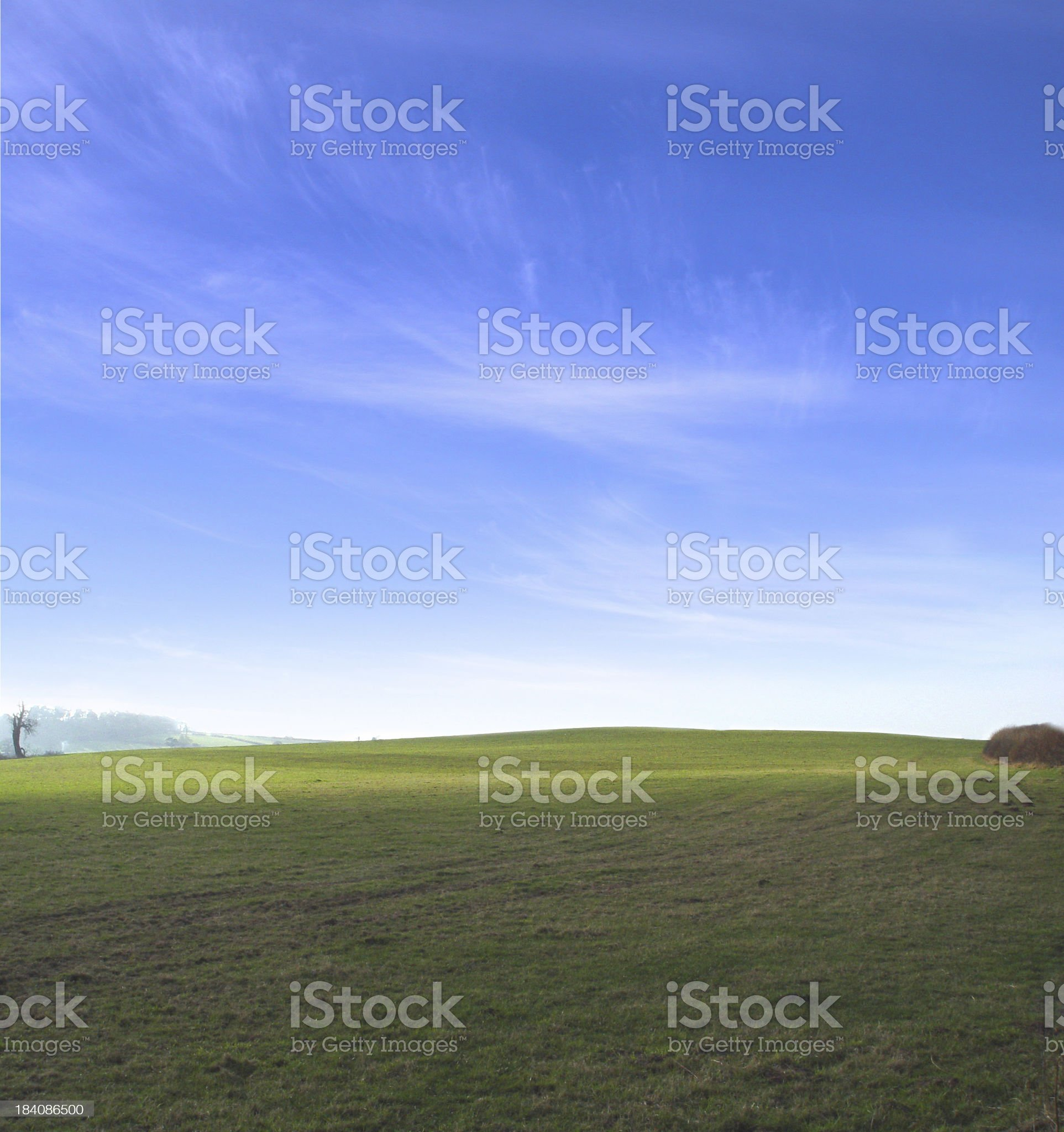 Sky and Fields 4 royalty-free stock photo