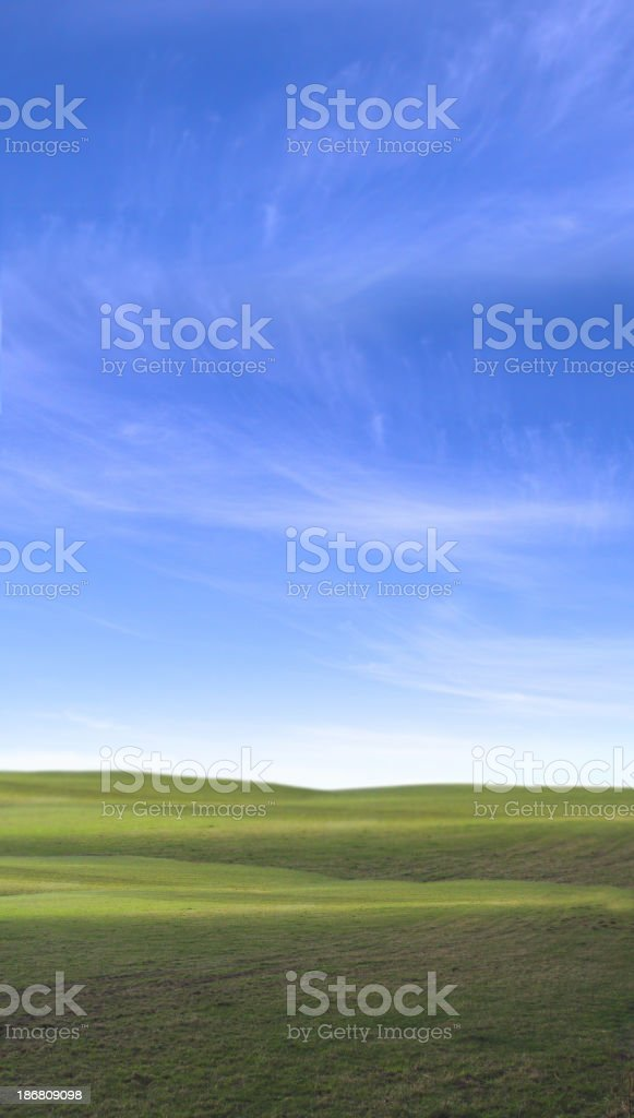 sky and fields 6 stock photo