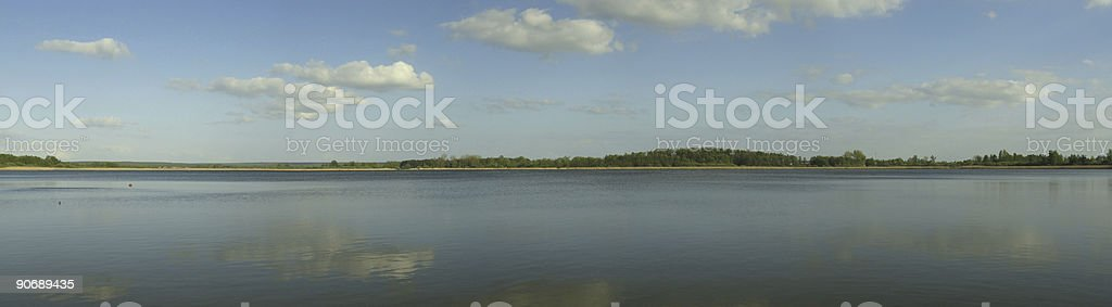 Sky and lake panorama royalty-free stock photo