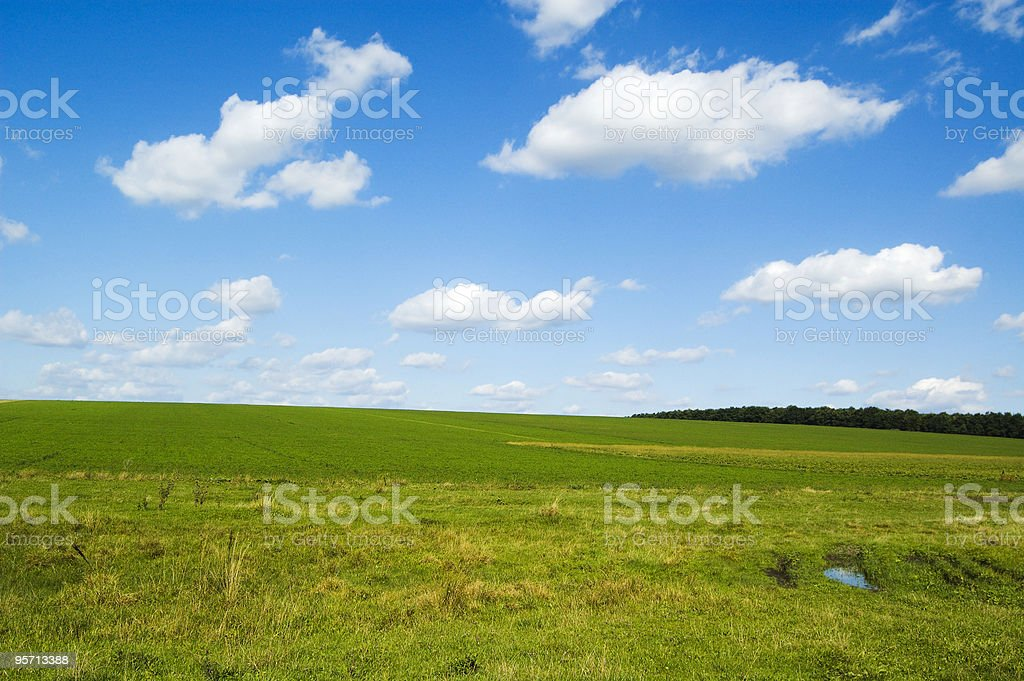 sky and land stock photo