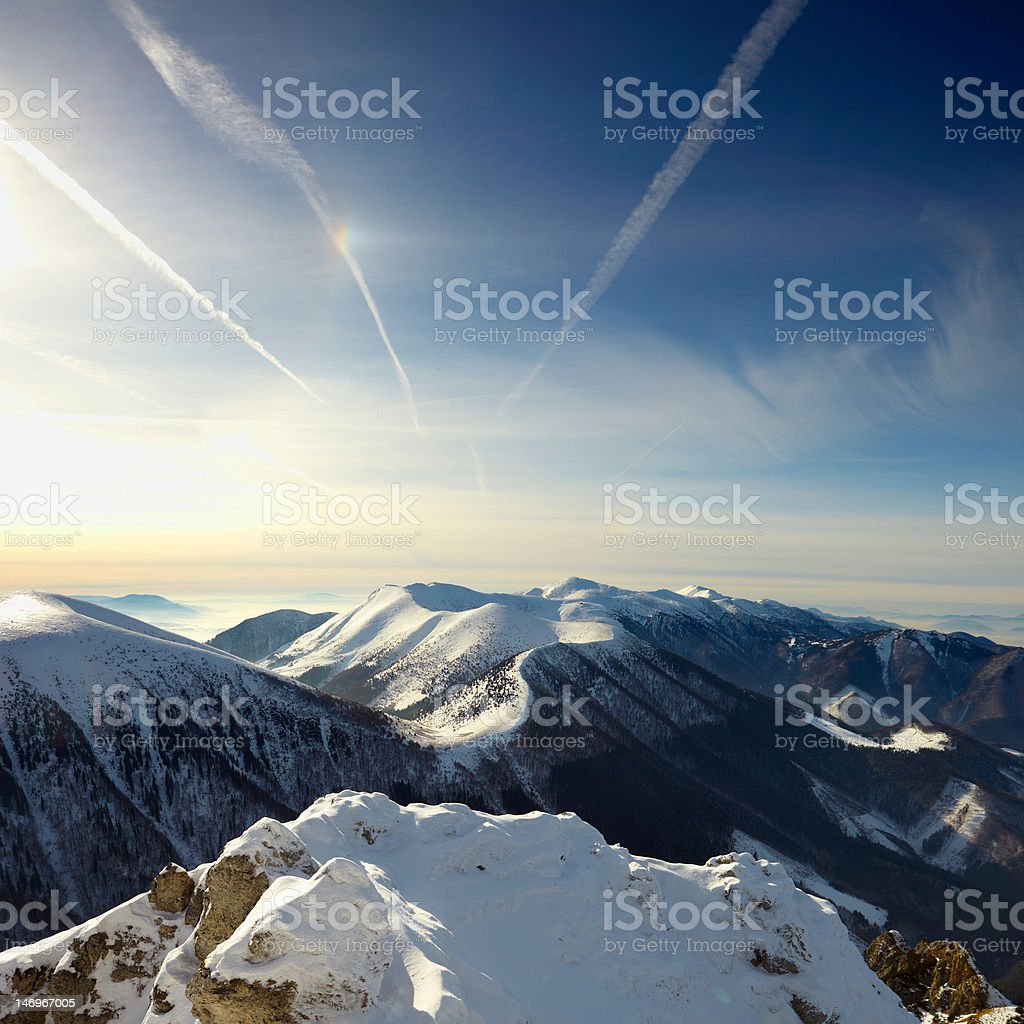 sky and mountains royalty-free stock photo