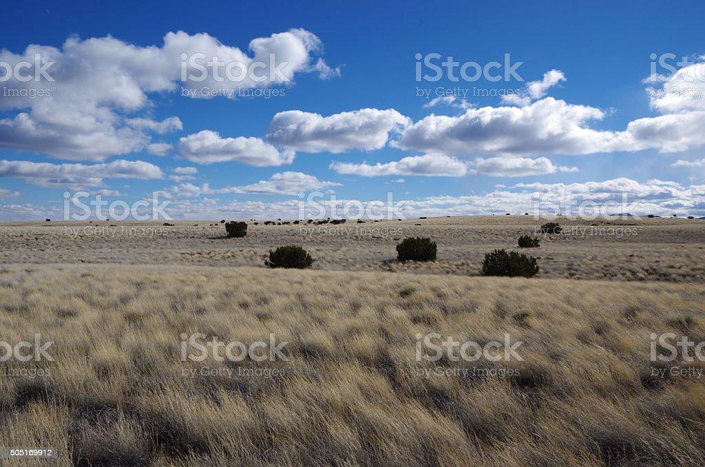 Sky and Prairie stock photo