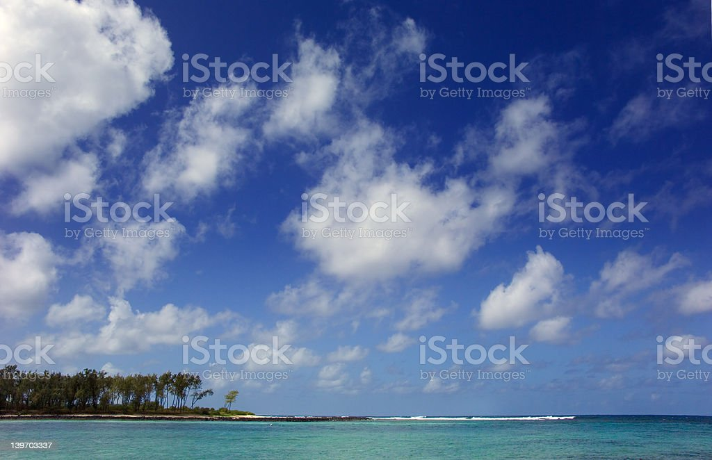 sky and sea from the southern tip of Mautitius royalty-free stock photo