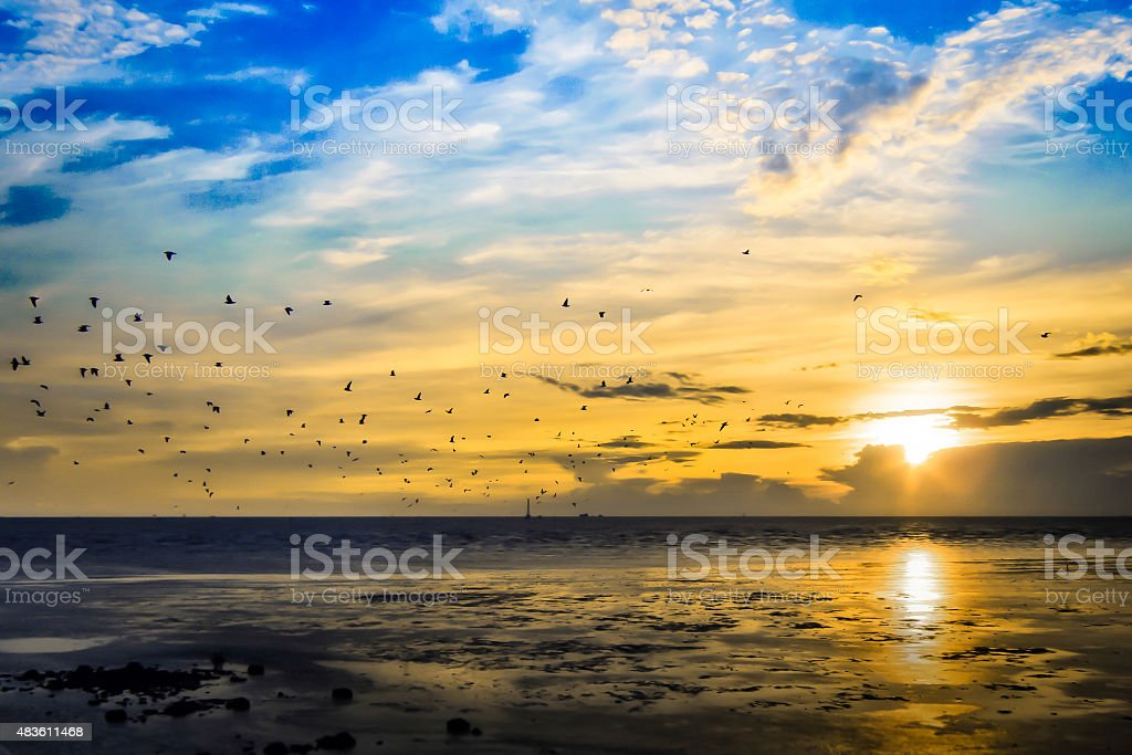 sky and sea on holiday royalty-free stock photo