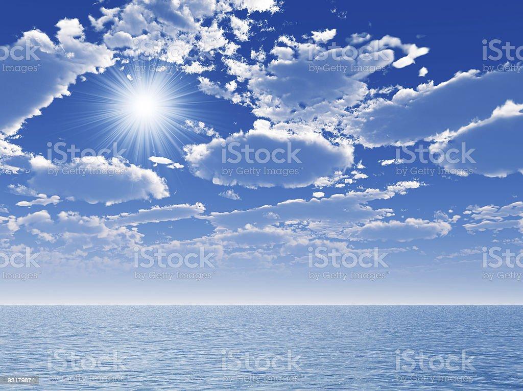 sky and sea royalty-free stock photo