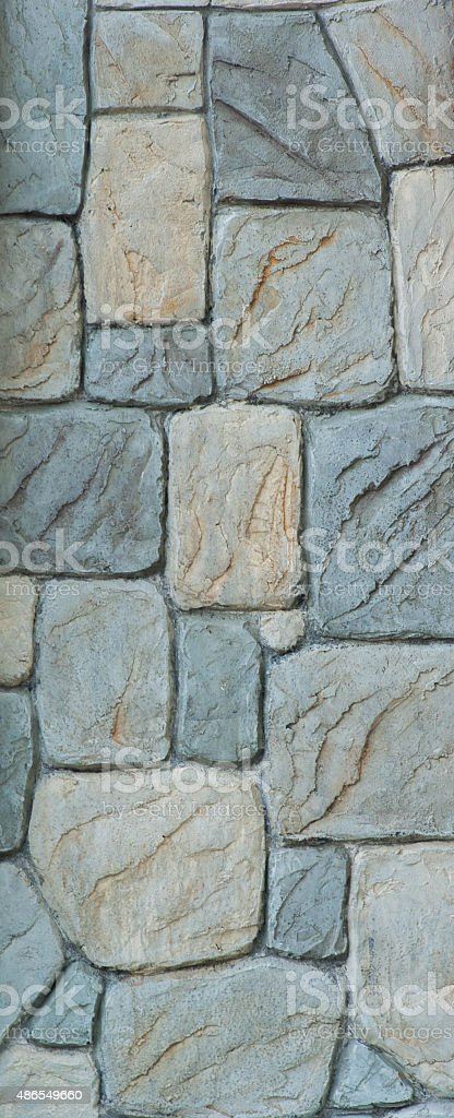 Sky and Stone wall background stock photo