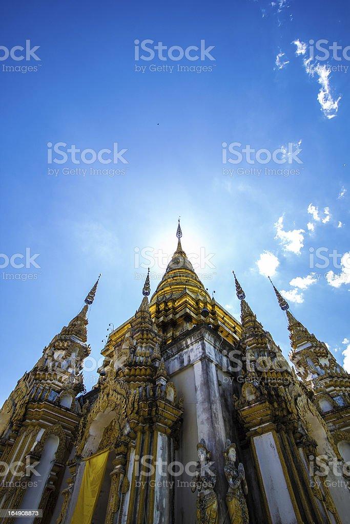 Sky and Stupa royalty-free stock photo