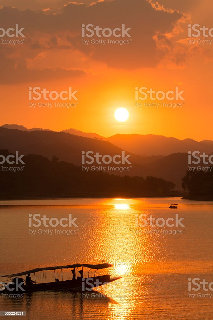 Sky and Sunset royalty-free stock photo