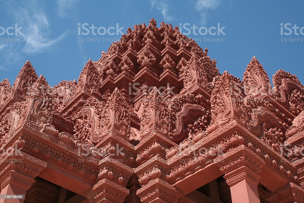 Sky and Temple royalty-free stock photo