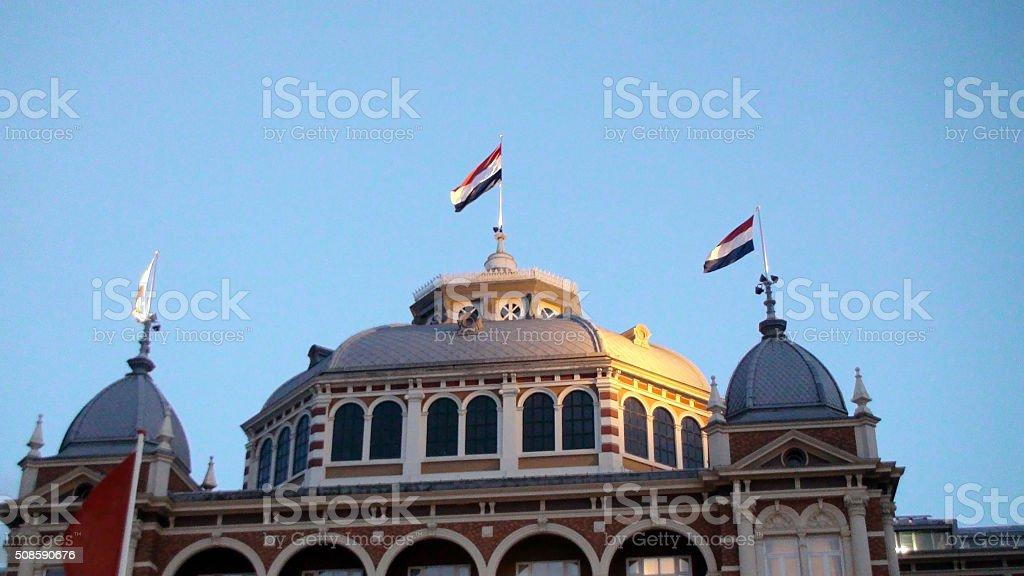 Sky And The Hague kurhaus Scheveningen In Summer.The Netherlands Europe stock photo