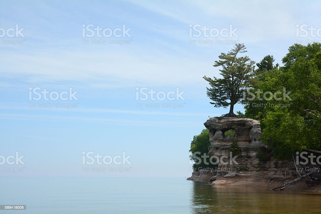 Sky and Water Meet at Chapel Rock royalty-free stock photo