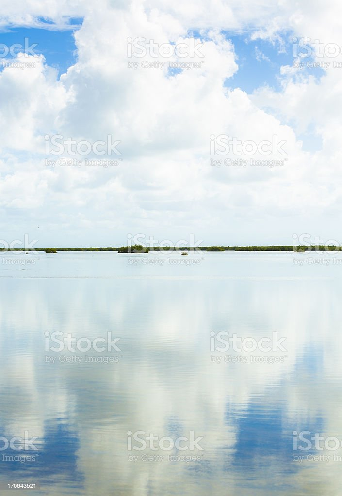 Sky and water stock photo