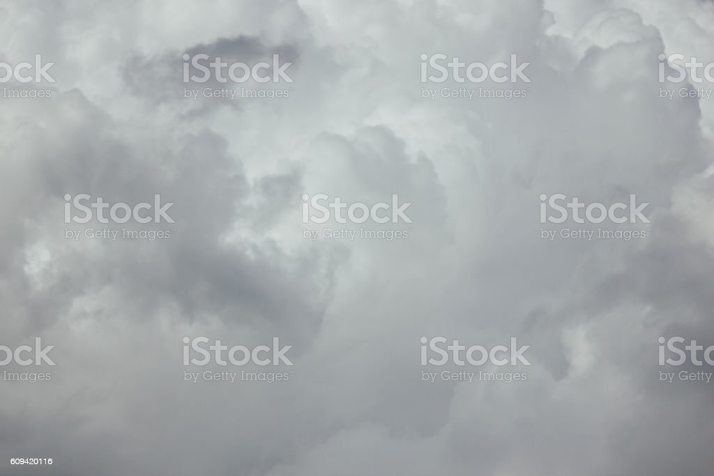sky and white cloud stock photo
