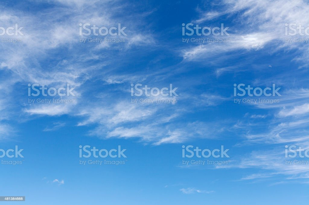 Sky and white clouds stock photo