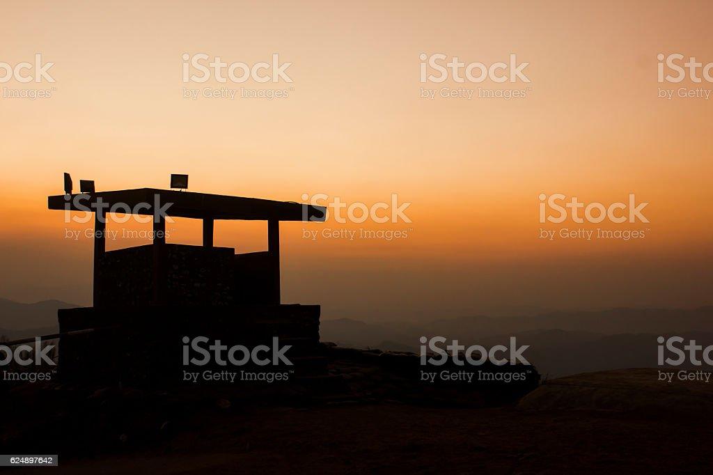 sky as sunset at borderland stock photo