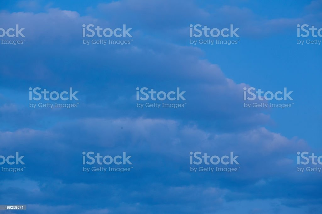 Sky at the blue hour royalty-free stock photo