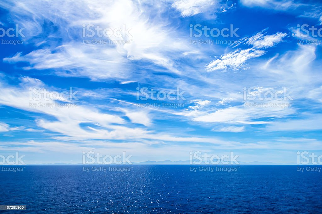 Sky background and sea stock photo