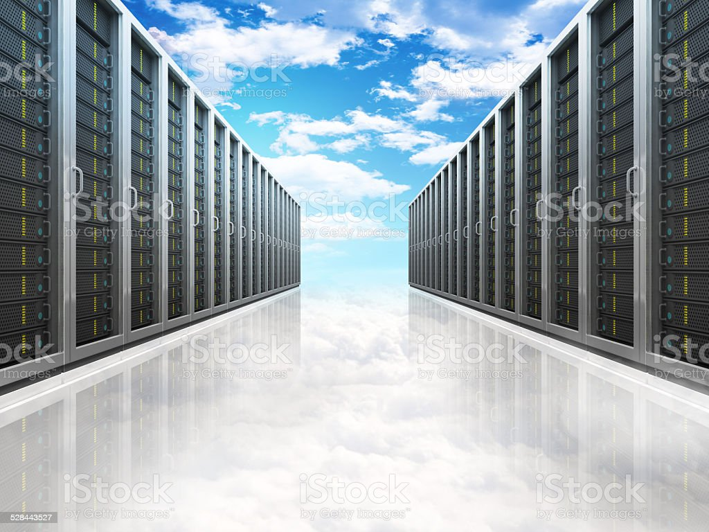 Sky background, Cloud Computing stock photo