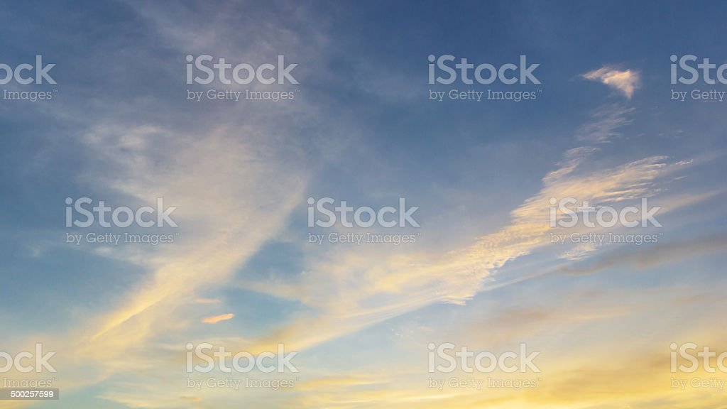 Sky before dusk stock photo