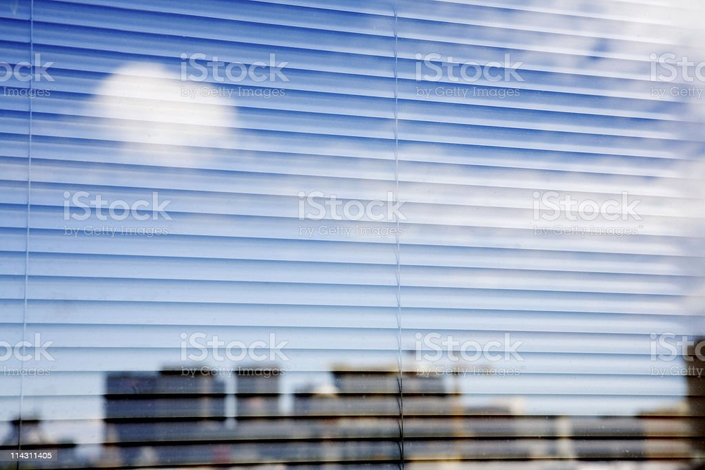 Sky, blinds, skyscrapers royalty-free stock photo