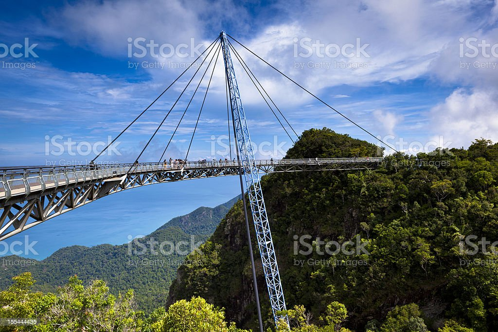 sky bridge scenic view stock photo