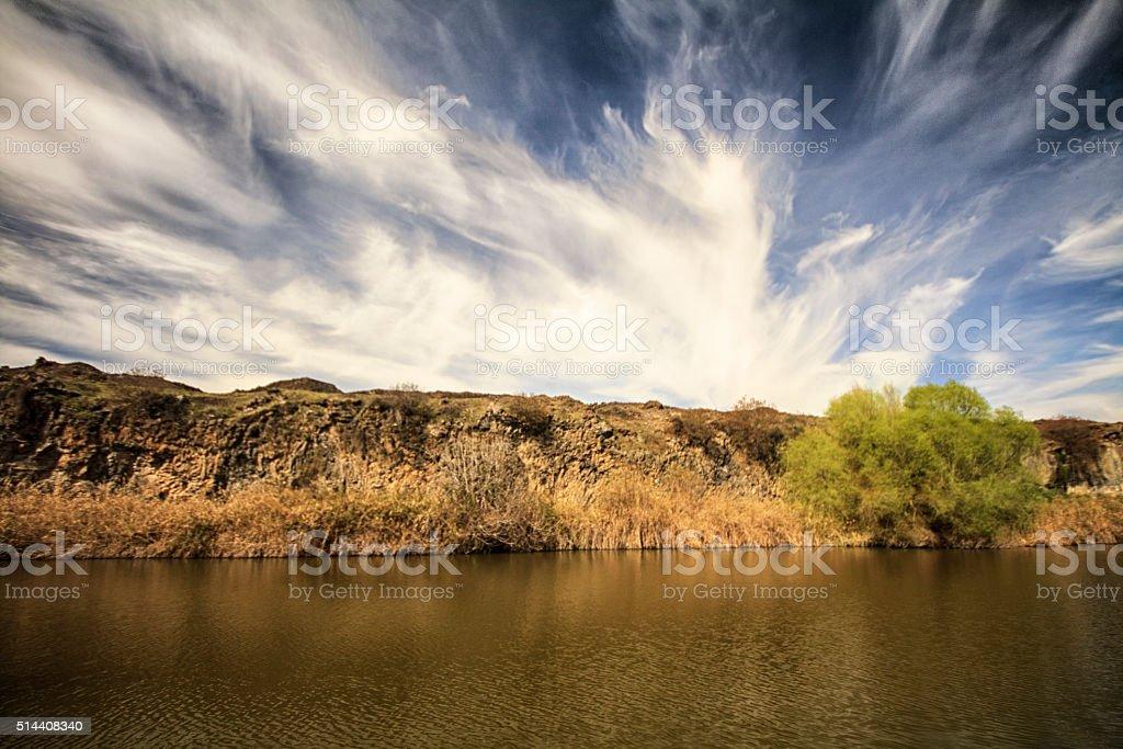 Sky canyon world blue stock photo