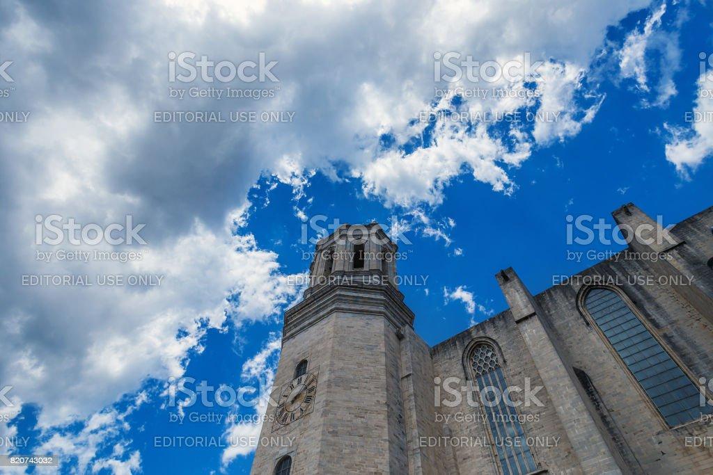 Sky Cathedral Girona stock photo