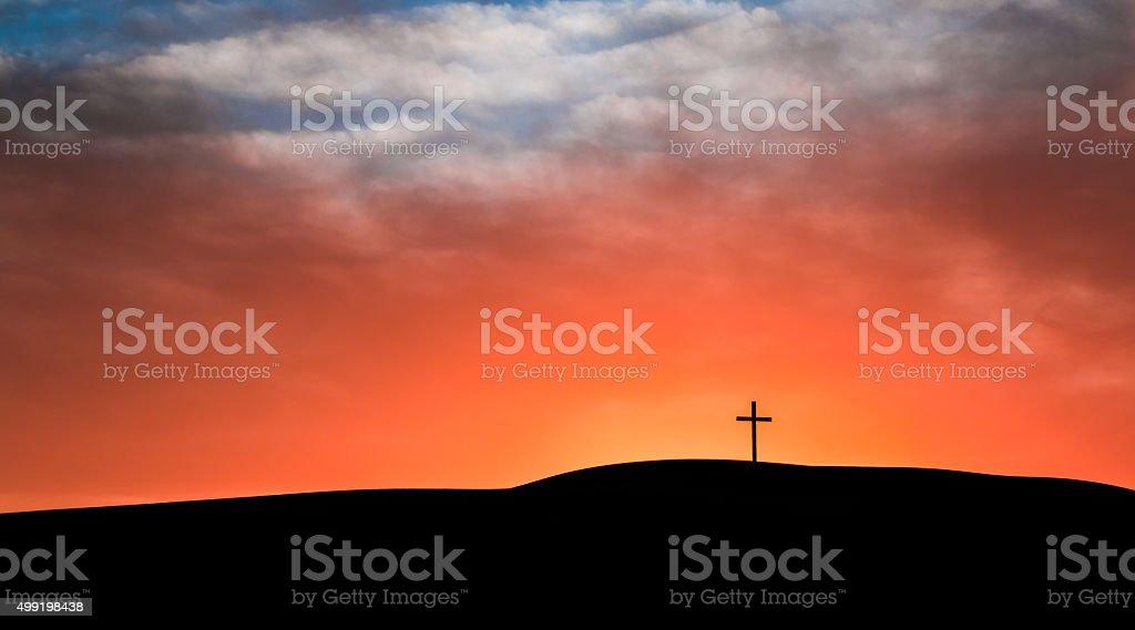 Sky Cloud Cross stock photo