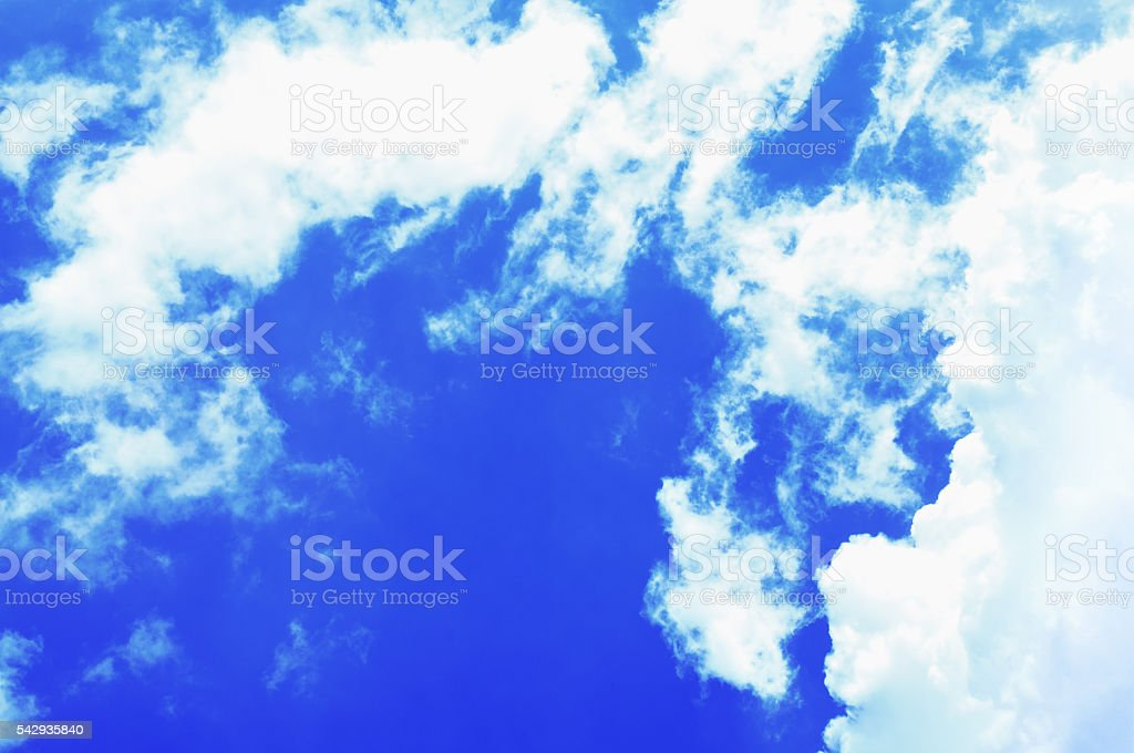 sky clouds bule and white background stock photo