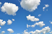 Sky Clouds with Blue Sky Background
