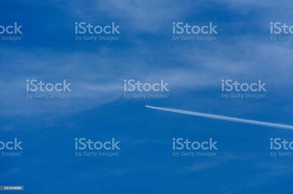 Sky & Contrails stock photo