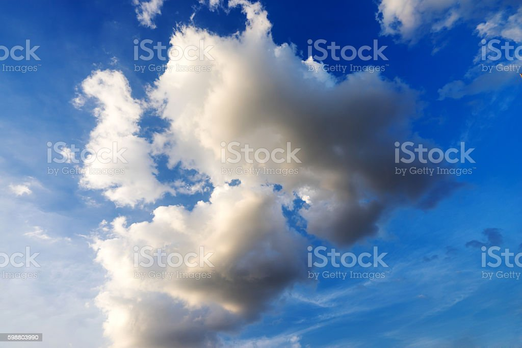 Sky daylight. Natural sky composition. Element of design stock photo
