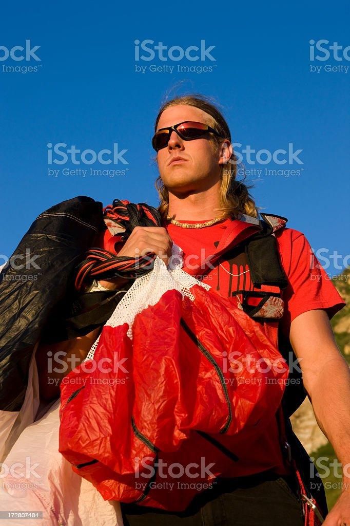Sky Diver Portrait royalty-free stock photo
