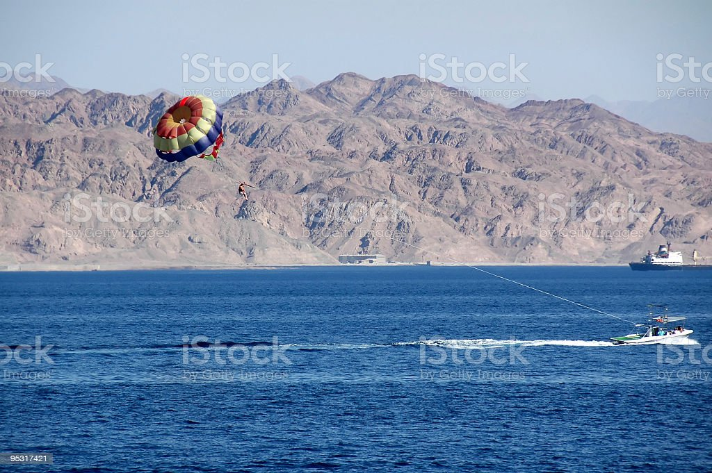 Sky diving stock photo