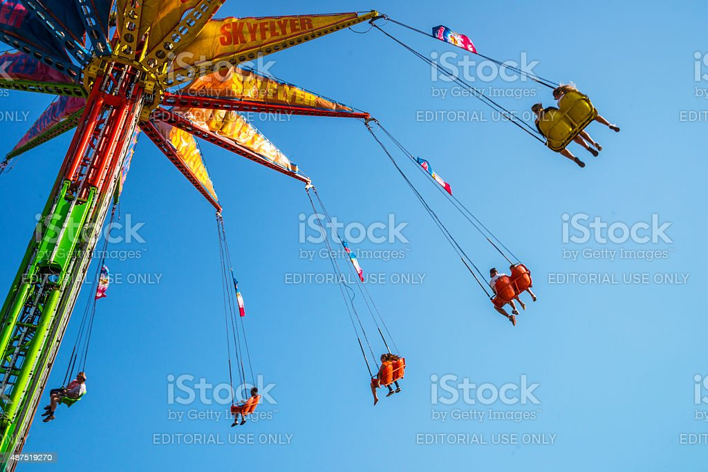Sky Flyer Giant Swing Ride at Minnesota State Fair stock photo