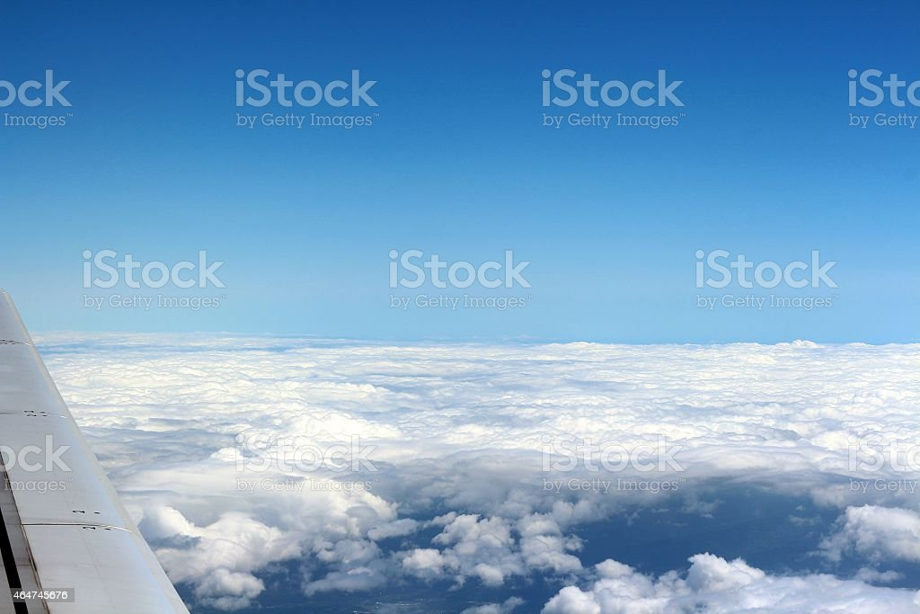 Ciel d'avion photo libre de droits