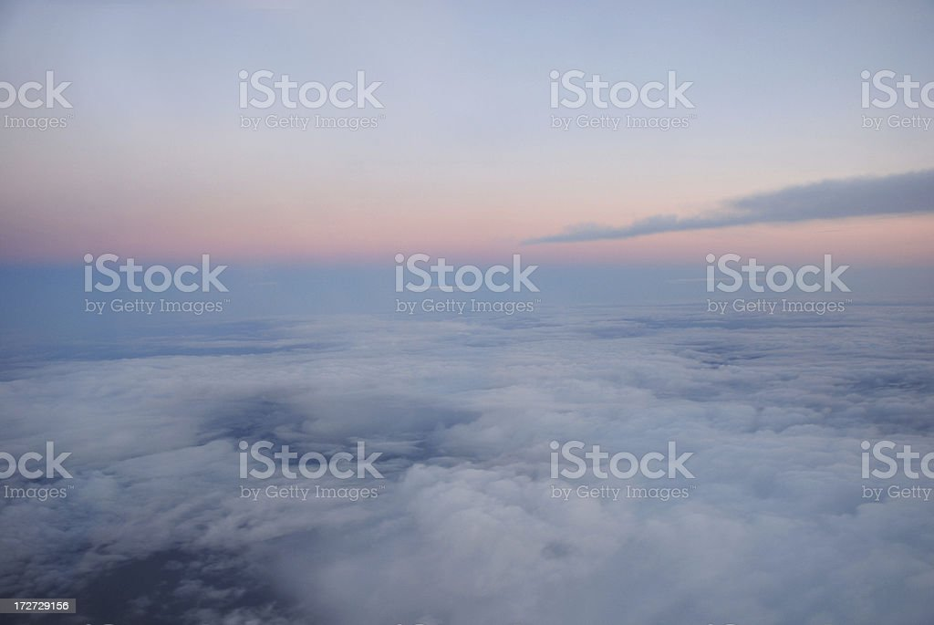 Sky from the airplane royalty-free stock photo
