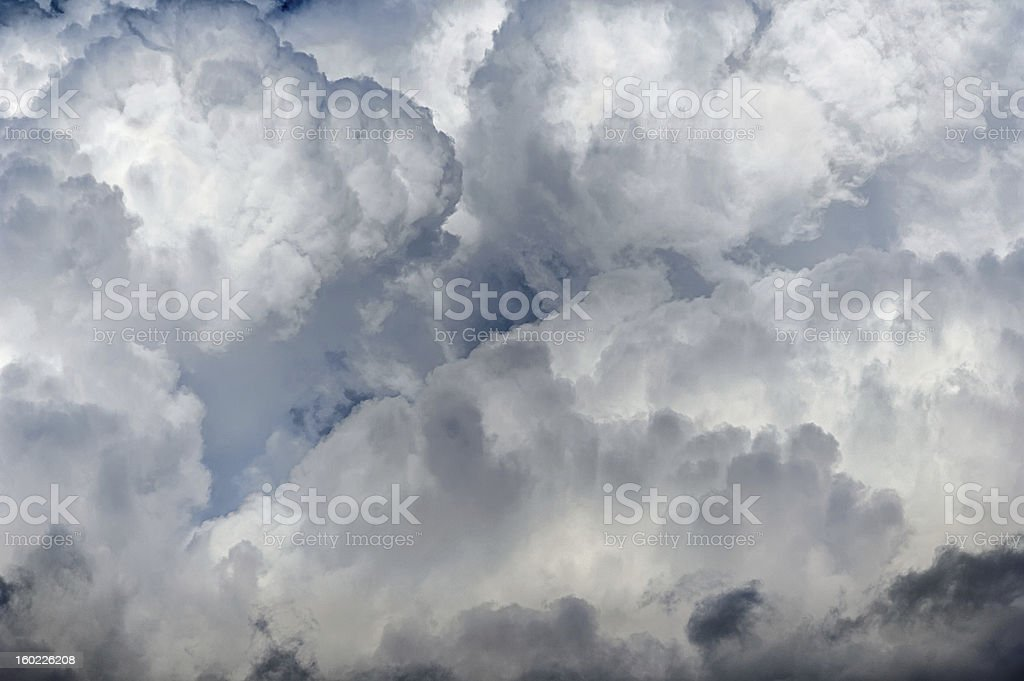 Sky full of clouds royalty-free stock photo