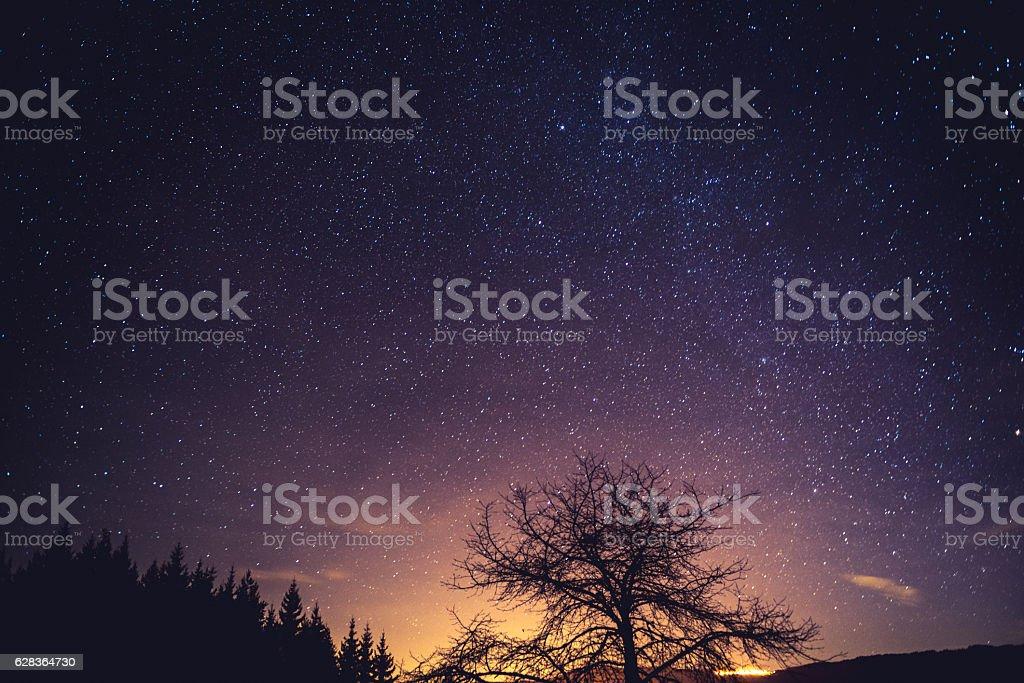 Sky full of stars stock photo